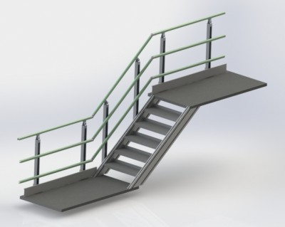 The Alphastrut aluminium handrail system is durable, low maintenance and easy to install.