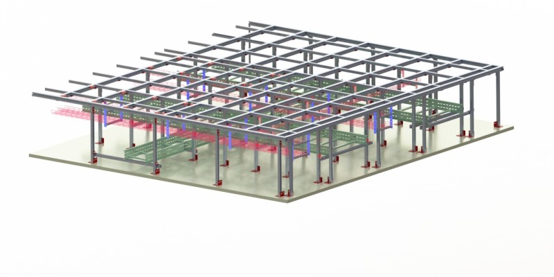 Alphastrut flooring grids reduce weight on offshore platforms.